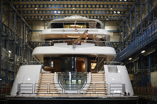 Feadship launches 73-metre Hasna