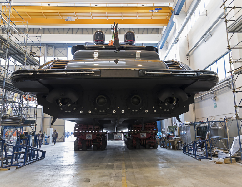 Overmarine's first all-black Mangusta 165 hits the water